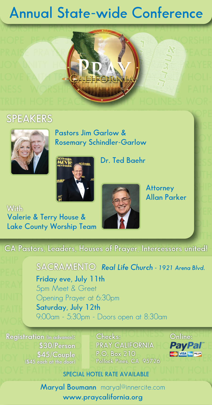 Pray CA Conference Flyer